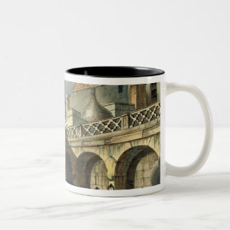 Inside of Queen's Bath, from 'Bath Illustrated by Two-Tone Coffee Mug