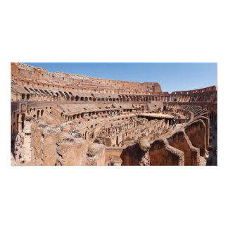 Inside of the Rome Colosseum Panoramic Portrait Customized Photo Card