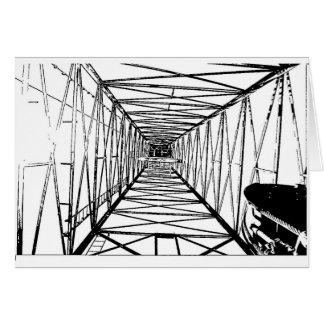 Inside Oil Drill Rig Sketch Greeting Card