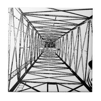 Inside Oil Drill Rig Sketch Small Square Tile