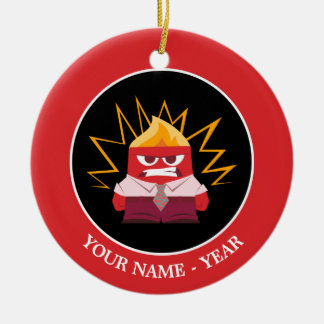 Inside Out   Anger Standing Add Your Name Round Ceramic Decoration