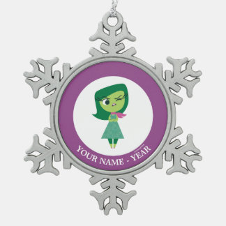Inside Out | Disgust arms Crossed Add Your Name Pewter Snowflake Decoration