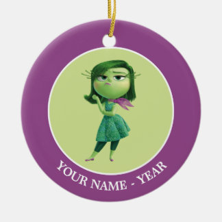 Inside Out   Disgust Standing Add Your Name Round Ceramic Decoration