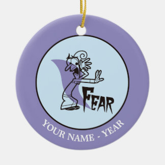 Inside Out | Fear With Hand Out Add Your Name Round Ceramic Decoration