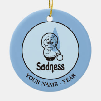 Inside Out | Sadness Cartoon Add Your Name Round Ceramic Decoration