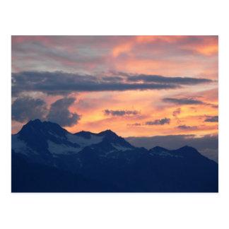 Inside Passage Sunset Postcard