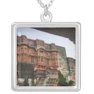 Inside Royal Ghanerao Castle, Rajasthan, India Silver Plated Necklace