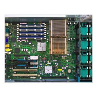 inside server computer 11 cm x 14 cm invitation card