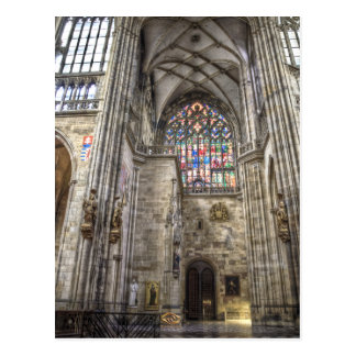 Inside St.Vitus Cathedral Prague Postcard