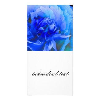 inside the blue rose custom photo card