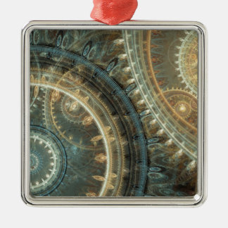 Inside the clock Silver-Colored square decoration