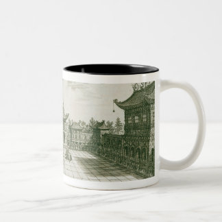 Inside the Imperial Palace, from an account of a D Two-Tone Coffee Mug