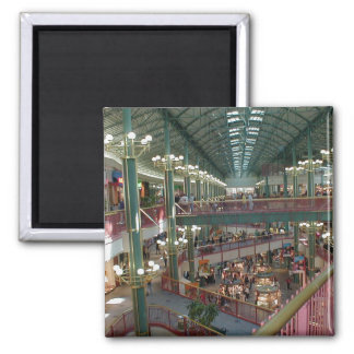Inside The Mall Of America Minisota Store Crowd Square Magnet