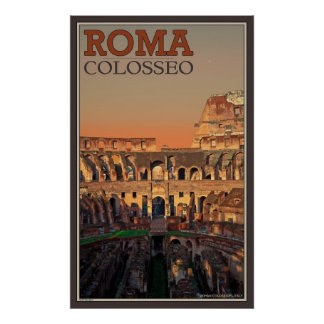 Inside the Roman Colosseum Poster