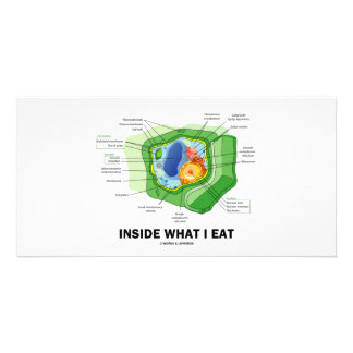 Inside What I Eat Plant Cell Vegetarian Humor Photo Card Template