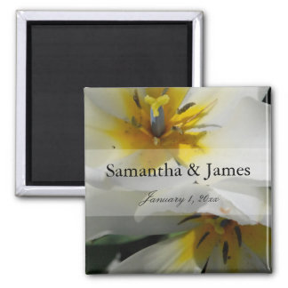 Inside White Lilies Personal Wedding Magnet