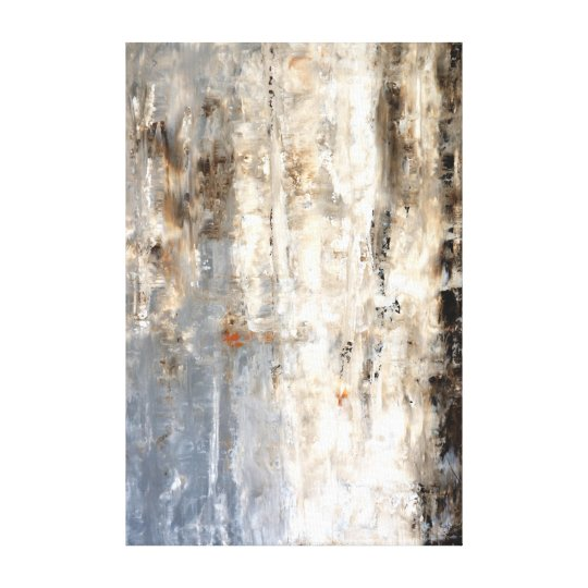 'Insightful' Neutral Abstract Art Painting Canvas Print