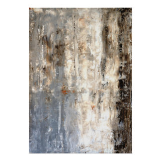 'Insightful' Neutral Abstract Art Poster Print