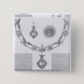 Insignia of the Order of Knighthood 15 Cm Square Badge