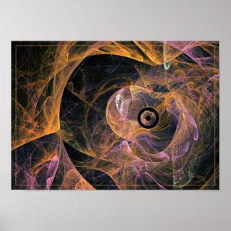 Insolent staring - fractal art poster
