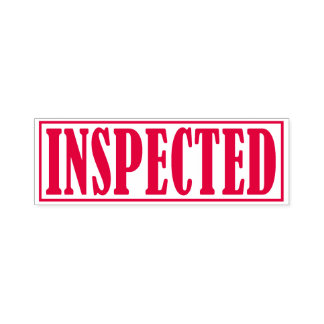 Inspected Business Office Framed Simple Word Self-inking Stamp