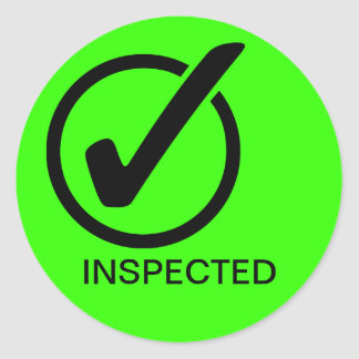 INSPECTED ROUND STICKER