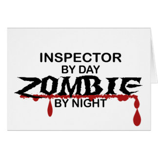 Inspector Zombie Greeting Card