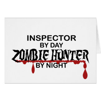 Inspector Zombie Hunter Greeting Card