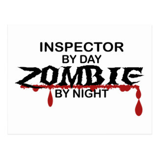 Inspector Zombie Post Card