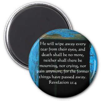 Inspiration and Strength Bible Verse Revelation 21 Magnet