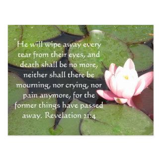 Inspiration and Strength Bible Verse Revelation 21 Postcard