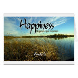 Inspiration -- Aristotle and Happiness Greeting Card