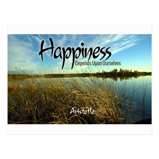 Inspiration -- Aristotle and Happiness Postcard