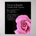 Inspiration Beautiful Pink Rose Print