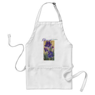 Inspiration Bloom Iris Watercolor Art Apron