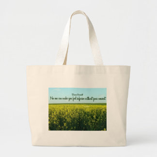 Inspiration by Eleanor Roosevelt Jumbo Tote Bag