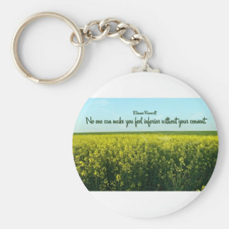 Inspiration by Eleanor Roosevelt Basic Round Button Key Ring