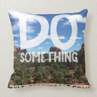 Inspiration Do Something Throw Cushion