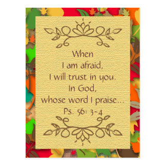 Inspiration-Fear and Trusting in the Lord-Postcard Postcards