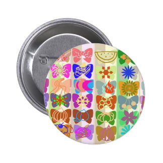 Inspiration from Colorful Lives of Butterflies 6 Cm Round Badge