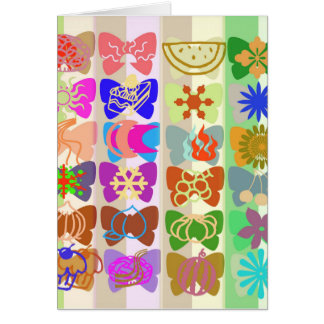 Inspiration from Colorful Lives of Butterflies Greeting Card