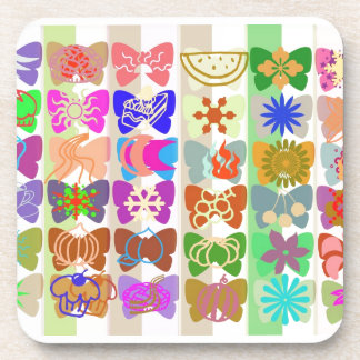 Inspiration from Colorful Lives of Butterflies Coaster