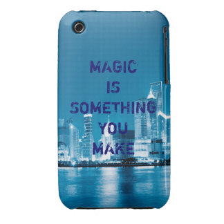 Inspiration hope quote city night background iPhone 3 Case-Mate cases