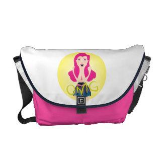 Inspiration Illustration: OMG Girl Messenger Bags