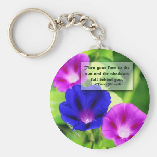 Inspiration - Morning Glories Keychain