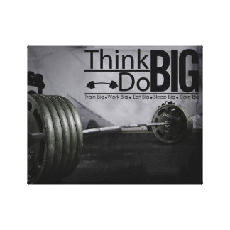 Inspiration Motivation Quotes Workout Poster Canvas Print