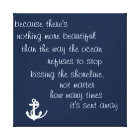Inspiration Ocean Quote Canvas Print