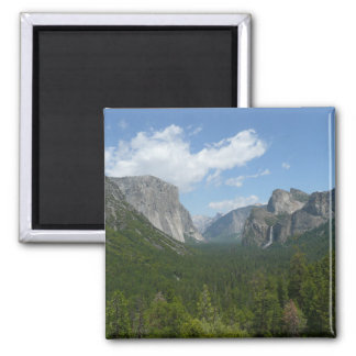 Inspiration Point in Yosemite National Park Square Magnet