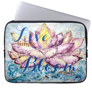 Inspiration Quote Lotus Watercolor Laptop Sleeve