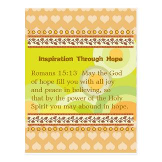 Inspiration Through Hope Postcard